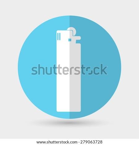 lighter icon - stock photo