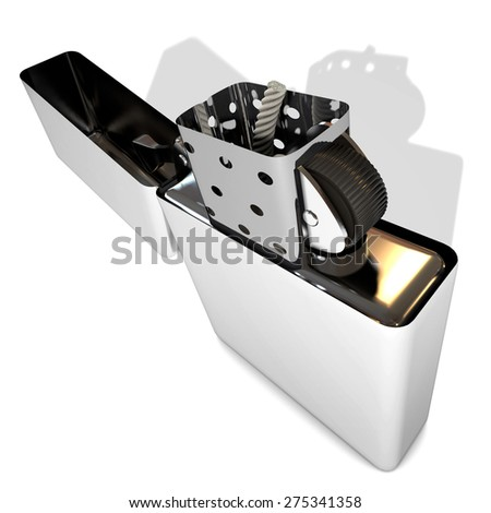 Lighter metal - stock photo