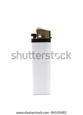 Lighter on a white background - stock photo