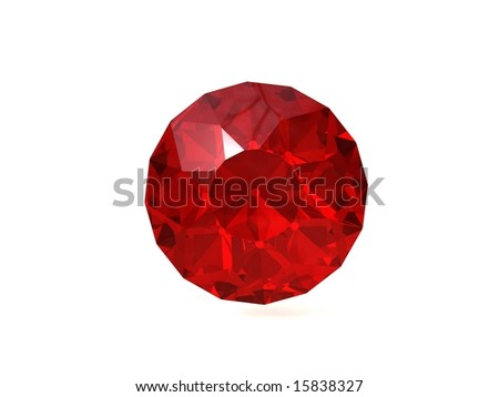 Lighter red ruby gemstone