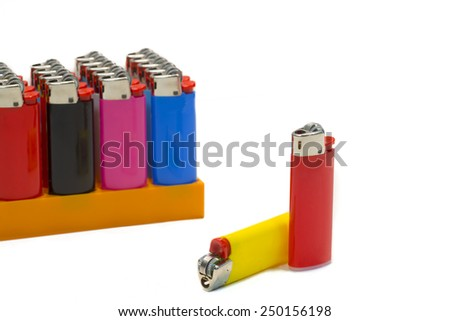lighters isolated on white