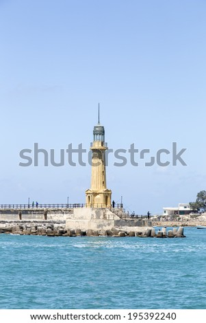 lighthouse at Alexandria, Egypt - stock photo