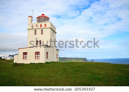 Lighthouse at Cap Dyrholaey, Iceland
