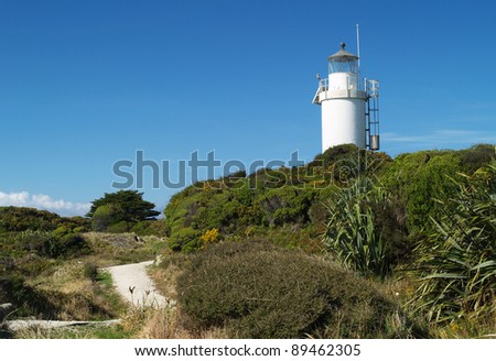Lighthouse at Cape Foulwind, West Coast of South island, New Zealand