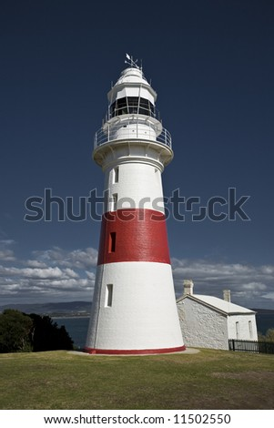 Lighthouse at Low head, Tasmania.