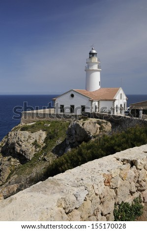 Lighthouse at Punta de Capdpera, Majorca