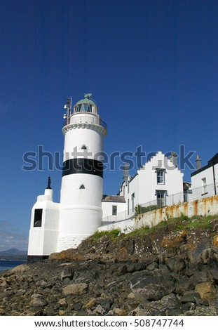 Lighthouse at sunny day