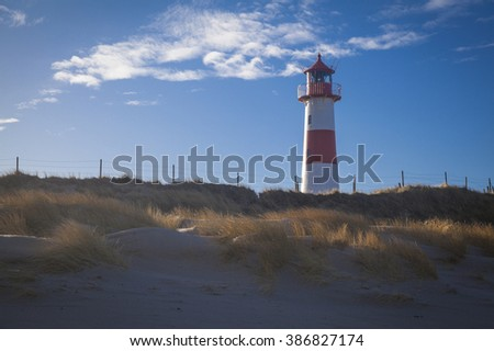 Lighthouse at the Ellbow List Sylt