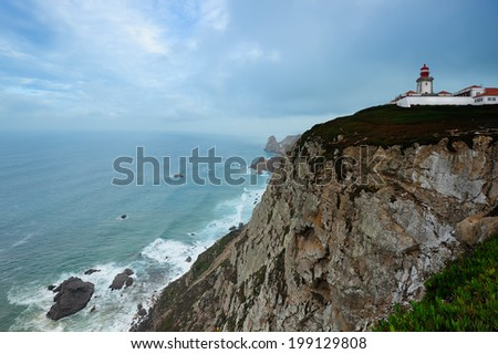 lighthouse at the most western point in continental Europe, Cabo Da Roca, Portugal