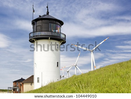 "Lighthouse ""Big Bertha"" in Cuxhaven, Germany - stock photo"