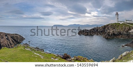 Lighthouse, Fanad Head, County Donegal, Ireland - stock photo