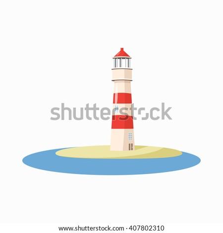Lighthouse icon - stock photo