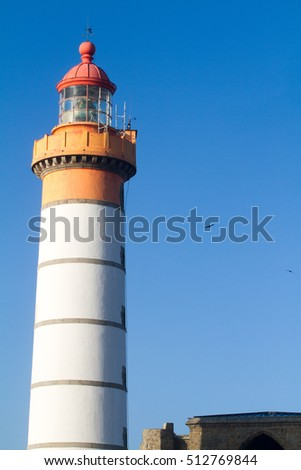 lighthouse in a beautiful day- France coast