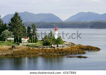 Lighthouse in Alaskan Inland  Passage, Alaska