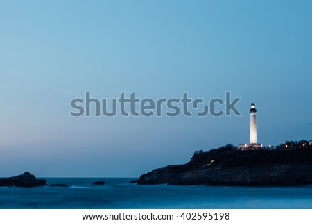 Lighthouse in Biarritz in southern France. - stock photo
