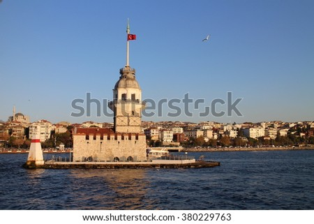 Lighthouse in Bosporus strait, Istanbul, Turkey