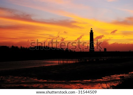 lighthouse in dawn