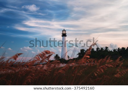 Lighthouse in Florida - stock photo
