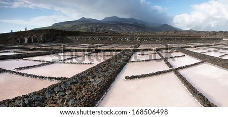 Lighthouse in Fuencaliente, La Palma, Canary islands - stock photo