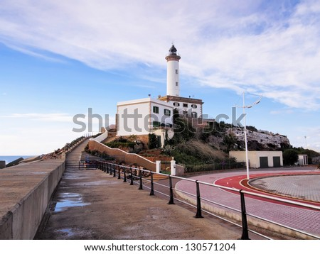 Lighthouse in Ibiza Town, Balearic Islands, Spain - stock photo