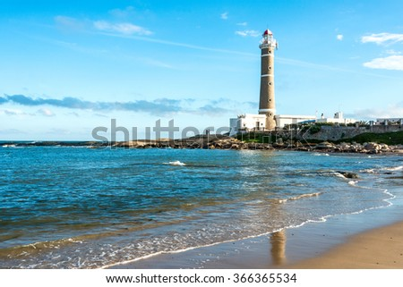 Lighthouse in Jose Ignacio near Punta del Este, Atlantic Coast, Uruguay