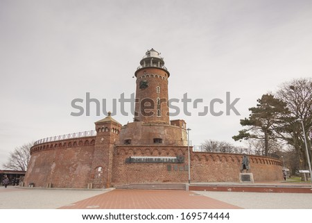 Lighthouse in Kolobrzeg, Poland. - stock photo
