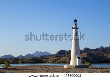 Lighthouse in Lake Havasu Arizona