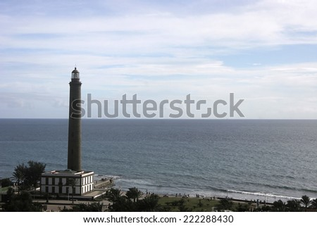 lighthouse in Maspalomas, Canaries, Spain