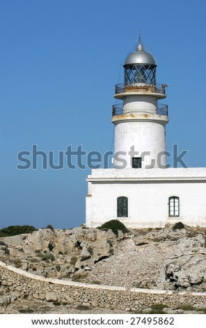 Lighthouse in Menorca - stock photo
