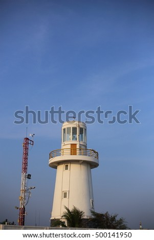 lighthouse in Rayong at Thailand