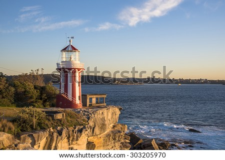 Lighthouse in Sydney, Australia at dawn.  - stock photo