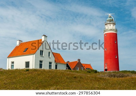 Lighthouse in Texel - stock photo
