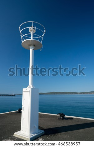 lighthouse in the ferry port