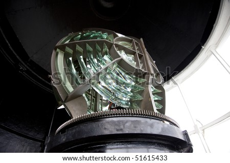 Lighthouse lens abstract background