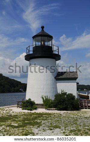 Lighthouse, Mystic Seaport, Mystic, Connecticut, USA - stock photo