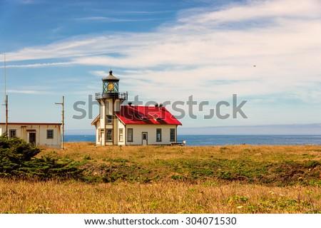 Lighthouse Northern California  - stock photo