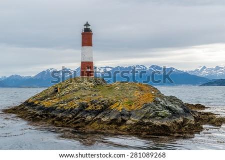 Lighthouse of Beagle channel, Ushuaia, Argentina - stock photo