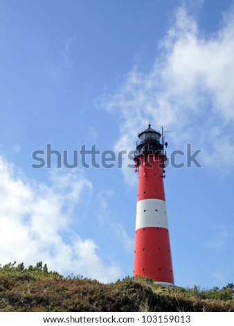 lighthouse of H�¶rnum/Sylt