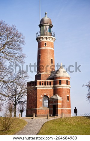 Lighthouse of Holtenau in Germany - stock photo