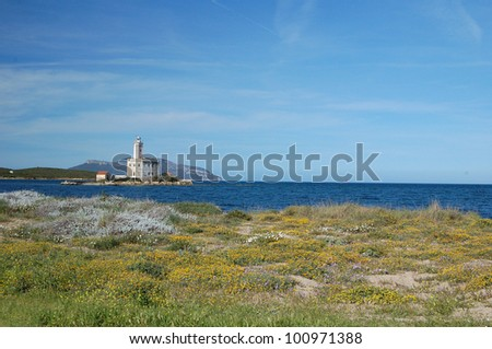 Lighthouse of Olbia - stock photo