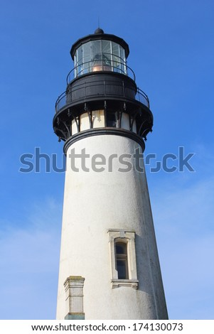 Lighthouse on Oregon Coast in Yaquina Head - an outstanding Natural Area