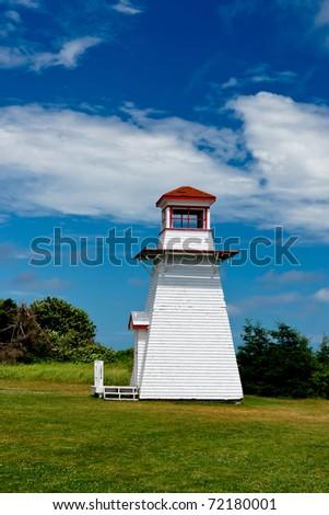 Lighthouse on Prince Edward Island - stock photo