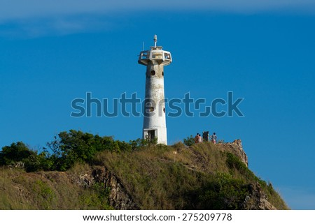 Lighthouse on The Coastal Slopes