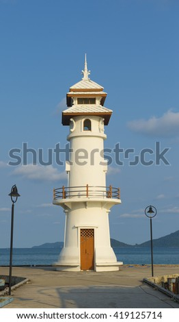 Lighthouse on the island, Koh Chang, Thailand
