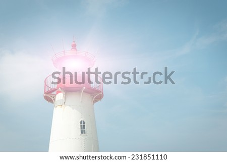 Lighthouse on the island Sylt, Germany - stock photo
