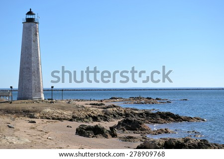 Lighthouse Park New Haven - stock photo