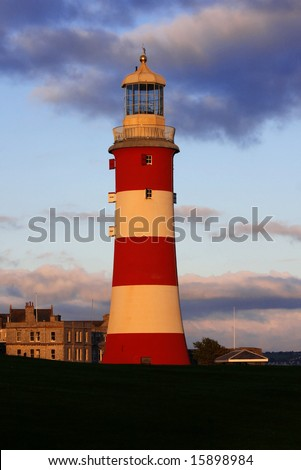 Lighthouse, Plymouth, England, UK - stock photo
