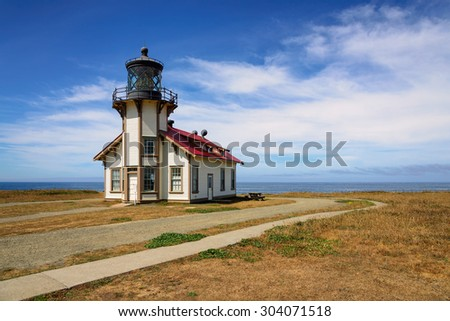 Lighthouse Point Cabrillo, California - stock photo