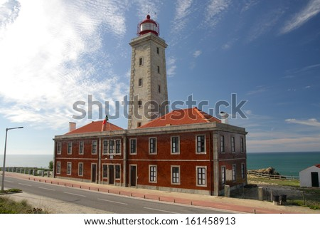 Lighthouse S. Pedro de Moel in Portugal