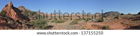 Lighthouse Trail in Palo Duro Canyon State Park, Texas - stock photo